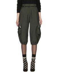 Fendi - Green Mohair Cargo Pants - Lyst