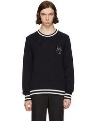 Dolce & Gabbana - Navy Logo Sweater - Lyst