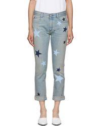 Stella McCartney - Blue Stars Skinny Boyfriend Jeans - Lyst