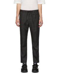 Cmmn Swdn - Black Pinstripe Stan Trousers - Lyst