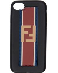 Fendi - Black Leather Forever Iphone 6 Case - Lyst