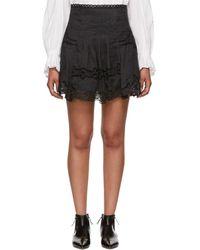 Isabel Marant - Black Ramie Marion Miniskirt - Lyst