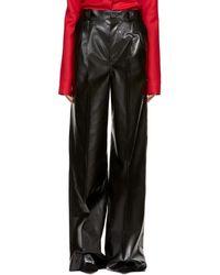 Kwaidan Editions - Black Faux-leather Wide-leg Trousers - Lyst