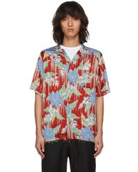 Christian Dada - Red Aloha Open Collar Shirt - Lyst