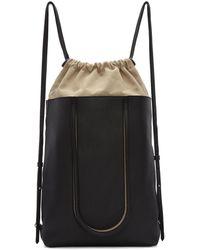 Maison Margiela | Black Leather Backpack | Lyst