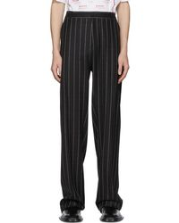 Versace - Striped Tailored Trousers - Lyst