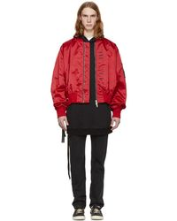 Unravel - Red Explicit Chop Over Bomber Jacket - Lyst