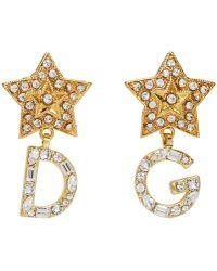 Dolce & Gabbana - Dg Drop Earings - Lyst