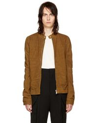 Rick Owens - Tan Leather Rick's Jacket - Lyst