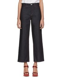 Rosetta Getty - Indigo Raw Denim Jeans - Lyst