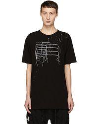 The Viridi-anne - Black Patchwork T-shirt - Lyst
