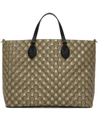 Gucci | Brown Gg Supreme Bees Tote | Lyst