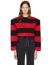 Vetements - Oversized Striped Cotton-jersey Top - Lyst