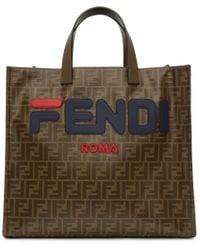 Fendi - X Fila Mania Logo Tess Shopper - Lyst