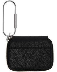Kara - Black Leather Carabiner Wallet - Lyst