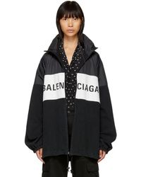 Balenciaga - Black Logo Jacket - Lyst