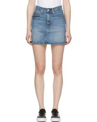 Levi's | Blue Deconstructed Denim Skirt | Lyst