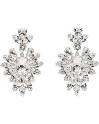 Dolce & Gabbana - Silver Crystal Oversized Earrings - Lyst