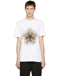 Neil Barrett - White Cross Floral Golden Aura T-shirt - Lyst