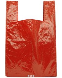 MSGM - Red Shopping Tote - Lyst