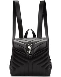 Saint Laurent - Black Small Loulou Backpack - Lyst