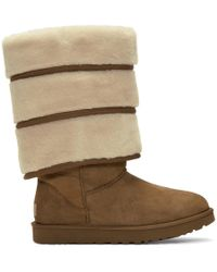 Y. Project - Bottes etagees brunes edition Uggs - Lyst