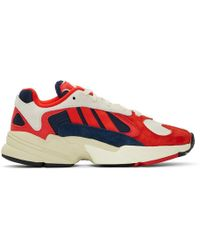adidas Originals - White And Red Yung 1 Sneakers - Lyst