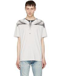 Marcelo Burlon - Double Wing-print Cotton T-shirt - Lyst