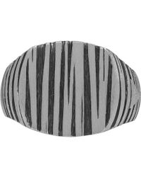 Tom Wood - Silver And Black Cushion Structure Ring - Lyst