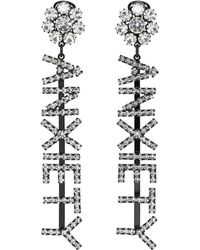 Ashley Williams | Ssense Exclusive Black Anxiety Earrings | Lyst