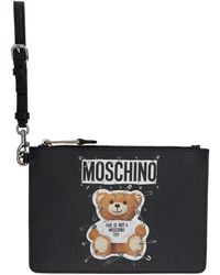 Moschino - Black Teddy Bear Pouch - Lyst
