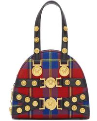 Versace - Red Tartan Small Tribute Bag - Lyst