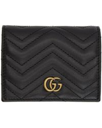 Gucci - Black Small GG Marmont Wallet - Lyst
