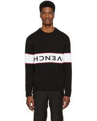 Givenchy - Black Reverse Logo Sweater - Lyst