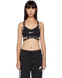 Nike - Black Indy Logo Bra - Lyst