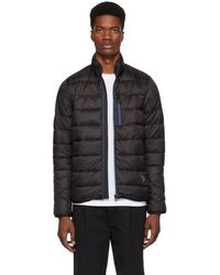 PS by Paul Smith - Black Down Quilted Jacket - Lyst