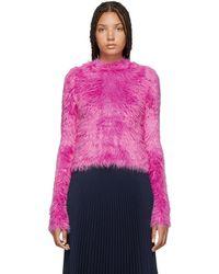 Balenciaga - Pink Oversoft Fluffy Sweater - Lyst