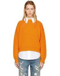 Acne Studios - Orange Penina Chunky Sweater - Lyst