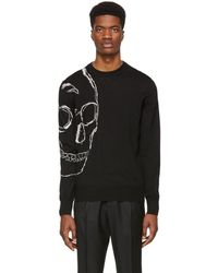Alexander McQueen - Black And Ivory Skull Sweater - Lyst