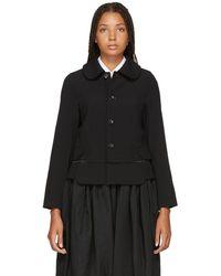 Comme des Garçons - Black Tropical Wool Jacket - Lyst