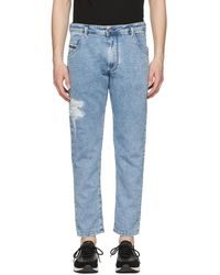 DIESEL - Blue Krooley-t Jogg Jeans - Lyst