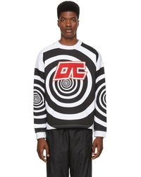 Opening Ceremony - Black And White Graphic Cozy Sweatshirt - Lyst