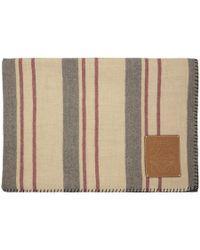 Loewe - Multicolour Stripes Blanket - Lyst