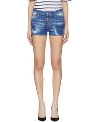 DSquared² - Blue Cool Girl Shorts - Lyst