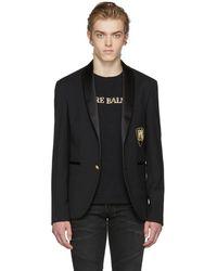 Balmain - Black Single-breasted Blazer - Lyst