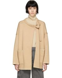Chloé - Brown Wool Compact Coat - Lyst