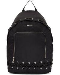 DIESEL - Black F-surpass Lace-up Backpack - Lyst