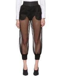Dolce & Gabbana - Black Mesh Lounge Pants - Lyst