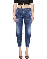 DSquared² - Blue Army Fade Hockney Jeans - Lyst