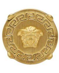 Versace - Bague doree Round Medusa - Lyst